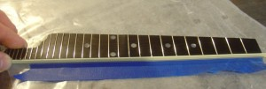 F5 Fretboard ready for that Binding