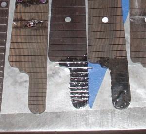 F5 fretboard - silver inlay