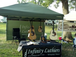 Infinity Luthiers at the Back Forty Memorial Day Bluegrass Festival