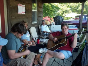Infinity Luthiers instrument jam at Bean Blossom 2012