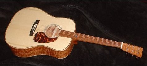 River Recovered Mahogany Guitar